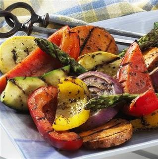 Овощи-барбекю электрокамины в центре