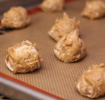 Печенье из арахисовой пасты и кремового зефира